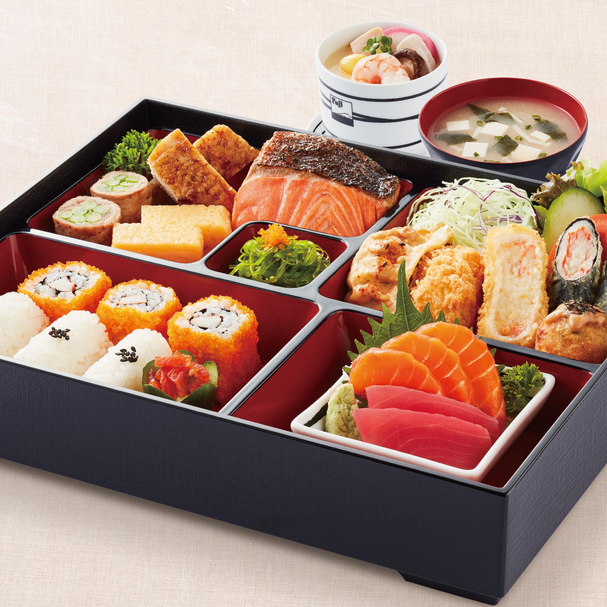 Fuji Bento Sashimi Set with Chawan Mushi