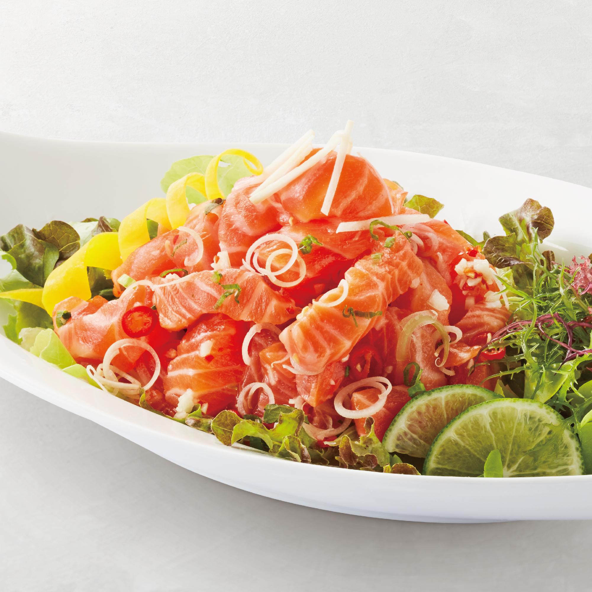 Salmon Tataki (Thai Style)