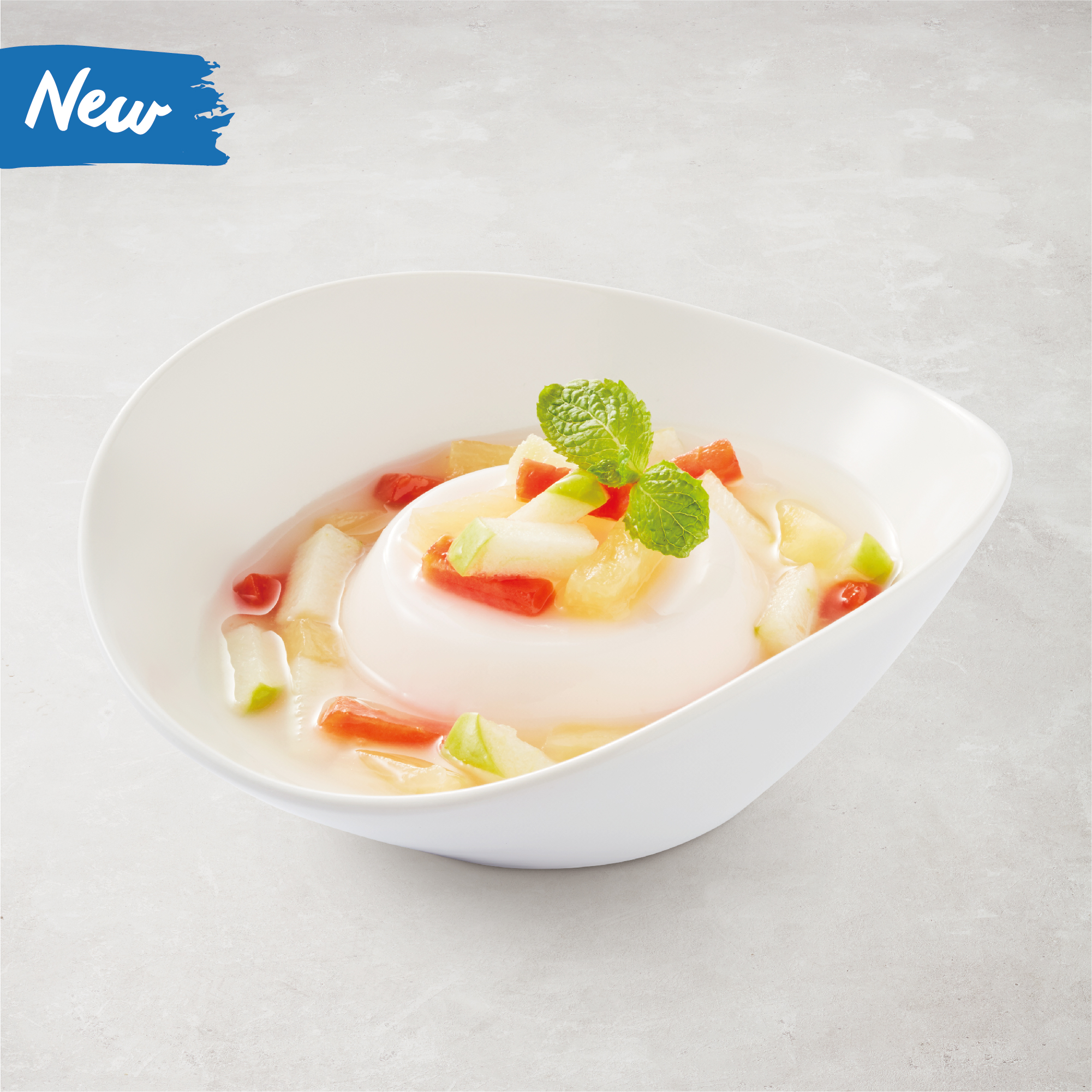 Fruits Salad Pudding