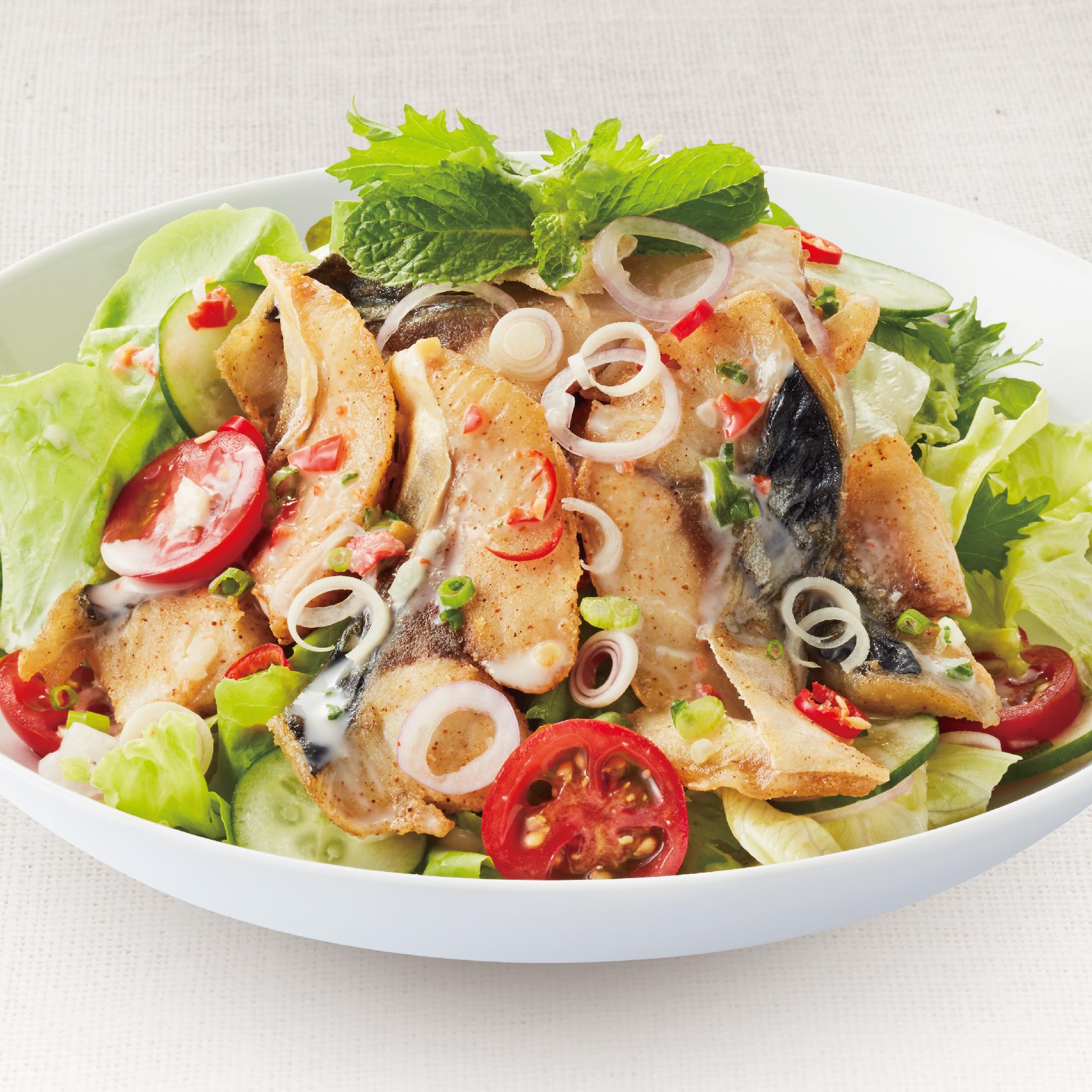 Spicy Saba Salad